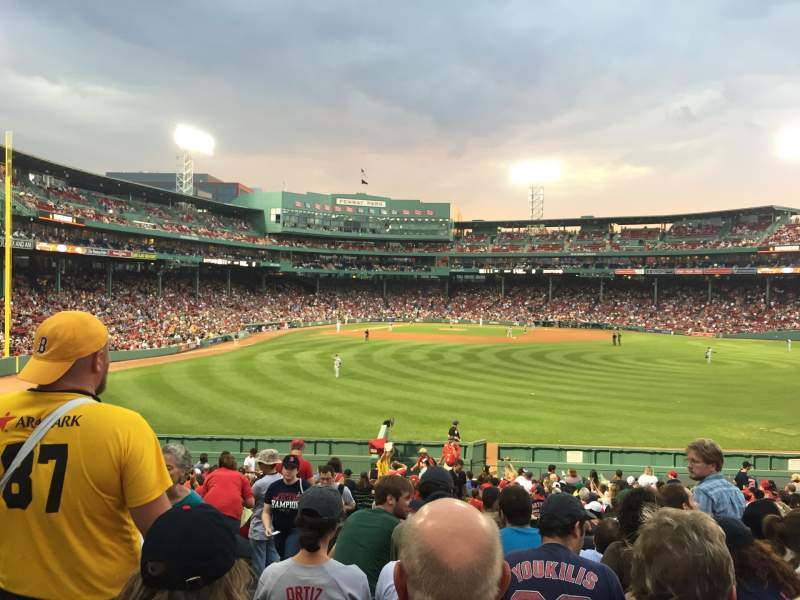 Seating view for Fenway Park Section Bleacher 41 Row 27 Seat 22