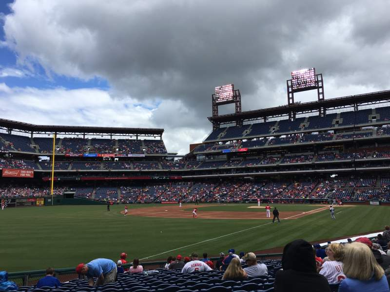 Seating view for Citizens Bank Park Section 134 Row 18 Seat 5