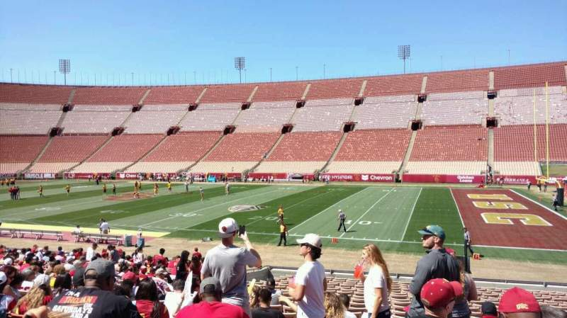 Seating view for Los Angeles Memorial Coliseum Section 4H Row 23 Seat 113