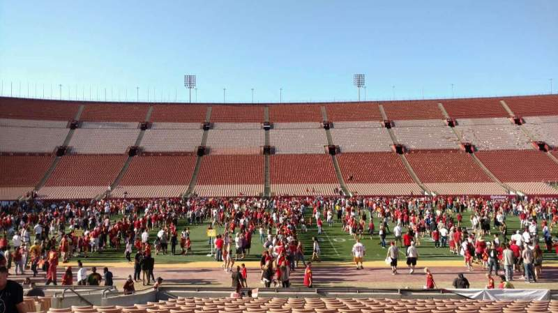 Seating view for Los Angeles Memorial Coliseum Section 6H Row 18 Seat 112