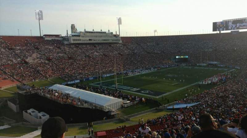 Seating view for Los Angeles Memorial Coliseum Section 28L Row 69 Seat 2