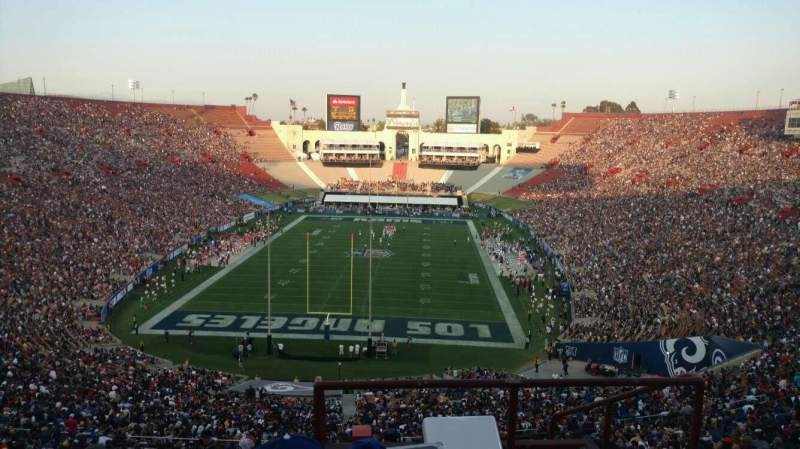 Seating view for Los Angeles Memorial Coliseum Section 14L Row 78 Seat 1