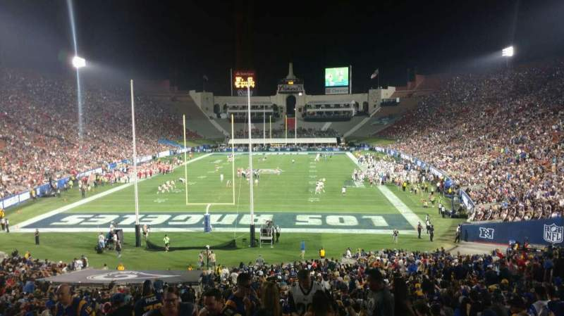 Seating view for Los Angeles Memorial Coliseum Section 14H Row 42 Seat 101