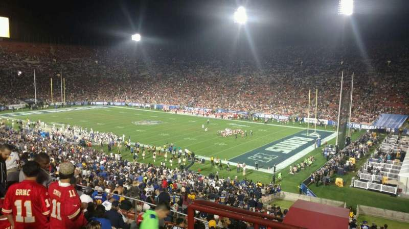 Seating view for Los Angeles Memorial Coliseum Section 3 Row 52 Seat 1