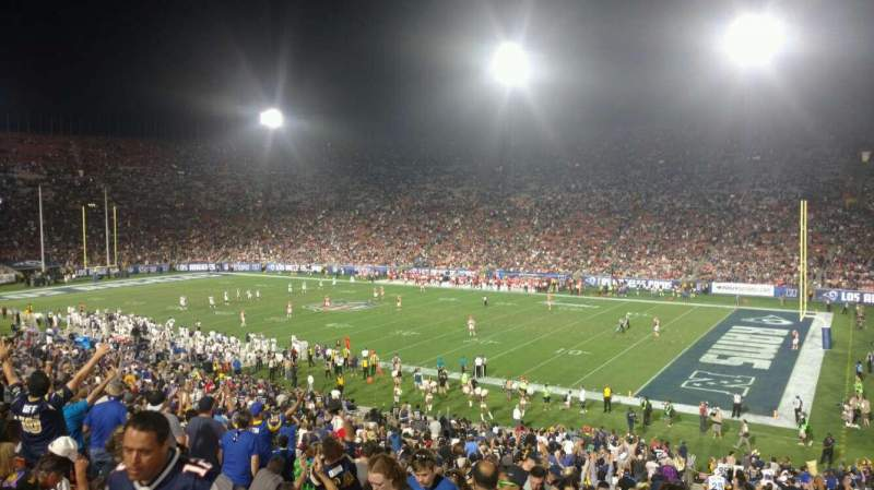 Seating view for Los Angeles Memorial Coliseum Section 4H Row 44 Seat 101