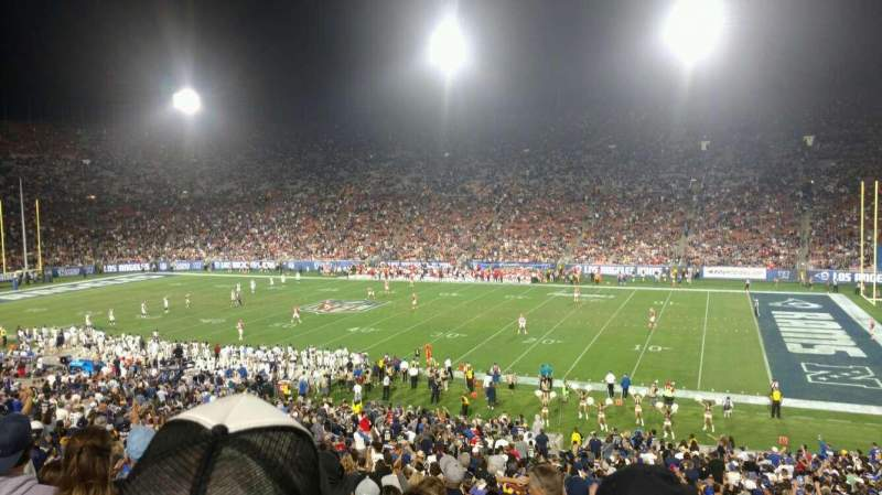 Seating view for Los Angeles Memorial Coliseum Section 5H Row 43 Seat 101