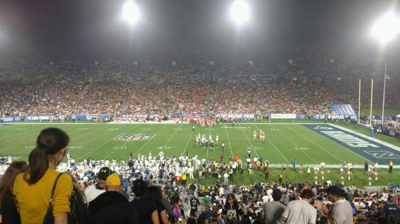 Seating view for Los Angeles Memorial Coliseum Section 6H Row 44 Seat 101