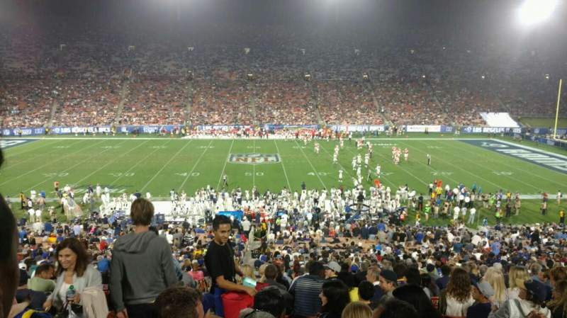 Seating view for Los Angeles Memorial Coliseum Section 7H Row 44 Seat 101