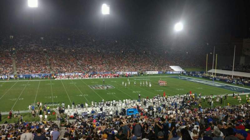 Seating view for Los Angeles Memorial Coliseum Section 8H Row 44 Seat 101