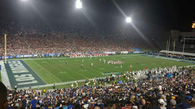 Seating view for Los Angeles Memorial Coliseum Section 10 Row 44 Seat 101
