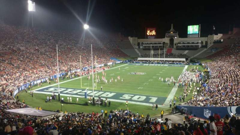 Seating view for Los Angeles Memorial Coliseum Section 13H Row 53 Seat 101