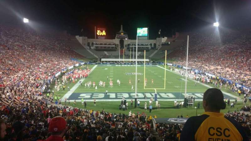 Seating view for Los Angeles Memorial Coliseum Section 15L Row 45 Seat 1