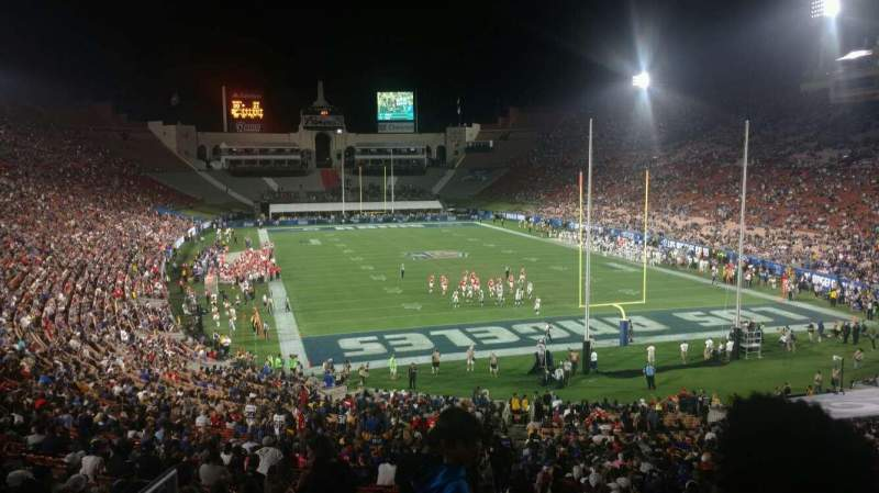 Seating view for Los Angeles Memorial Coliseum Section 16H Row 46 Seat 101