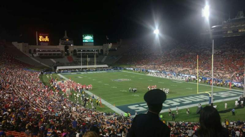 Seating view for Los Angeles Memorial Coliseum Section 17H Row 46 Seat 101
