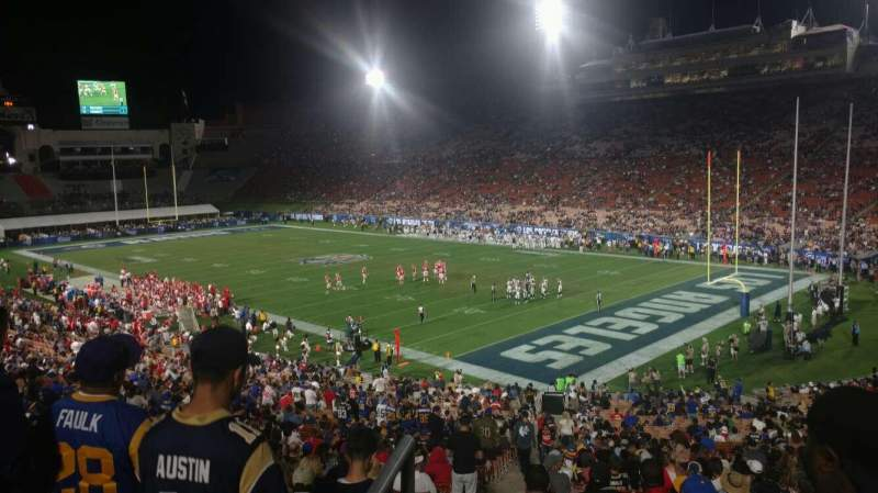 Seating view for Los Angeles Memorial Coliseum Section 18H Row 45 Seat 101