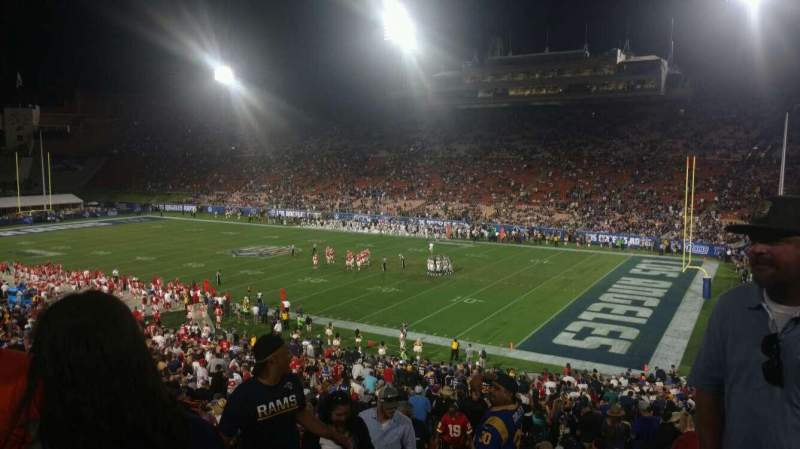 Seating view for Los Angeles Memorial Coliseum Section 19 Row 46 Seat 101