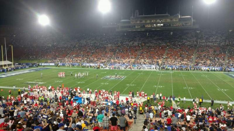 Seating view for Los Angeles Memorial Coliseum Section 21H Row 43 Seat 101