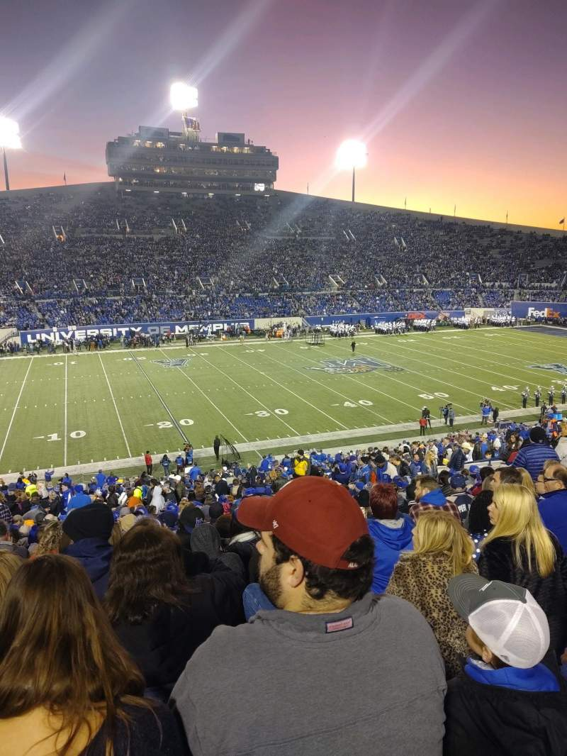 Liberty Bowl Memorial Stadium Section 122 Row 49 Seat 20