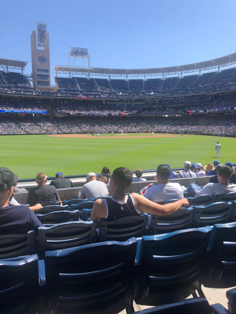 Seating view for PETCO Park Section 132 Row 7 Seat 13