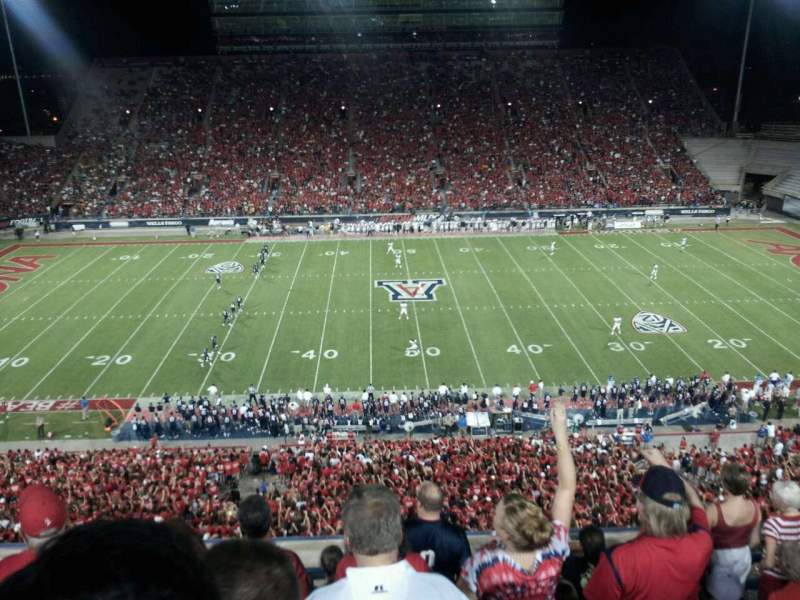 Seating view for Arizona Stadium Section 205 Row 7 Seat 26
