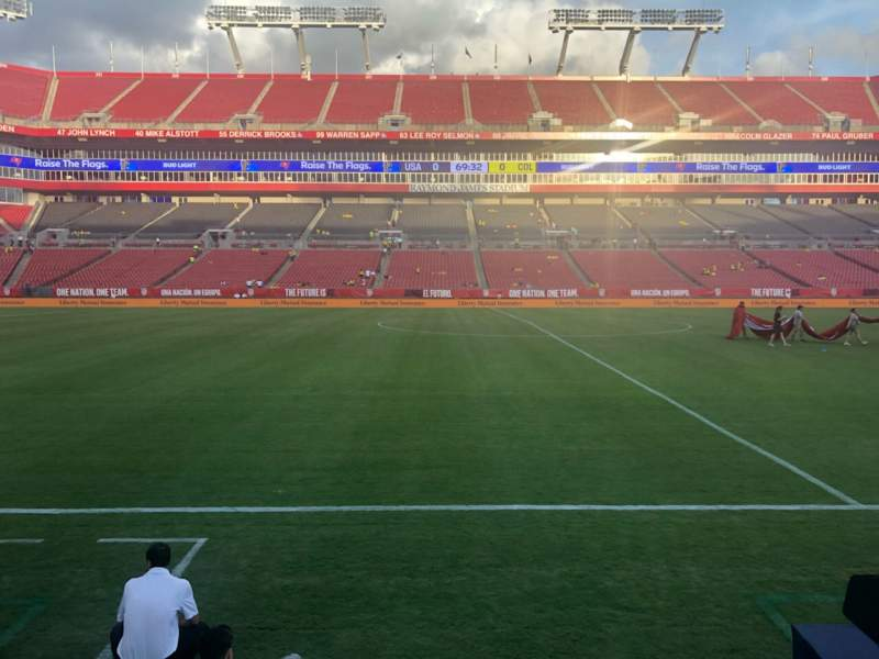 Seating view for Raymond James Stadium Section 110 Row A Seat 13-16