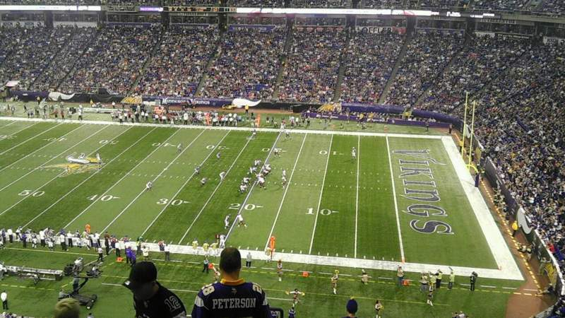 Seating view for Mall of America Field Section 207 Row 16 Seat 28