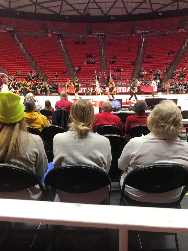 Seating view for Jon M. Huntsman Center Section A Row 1 Seat 2