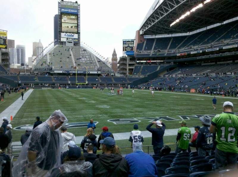 Seating view for Centurylink Field Section 124 Row J Seat 14