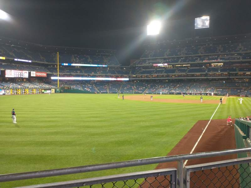 Seating view for Citizens Bank Park Section 140 Row 8 Seat 5