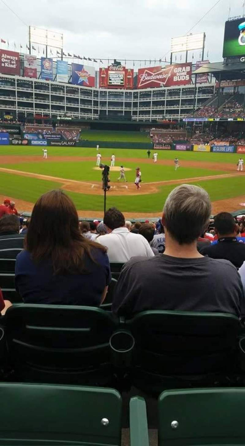 Seating view for Globe Life Park in Arlington Section 26 Row 16 Seat 5