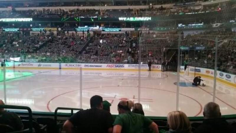 Seating view for American Airlines Center Section 116 Row G Seat 10