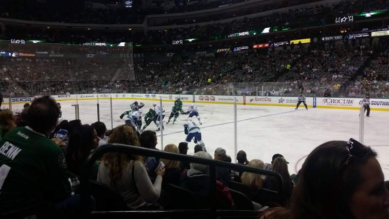 Seating view for American Airlines Center Section 116 Row G Seat 11