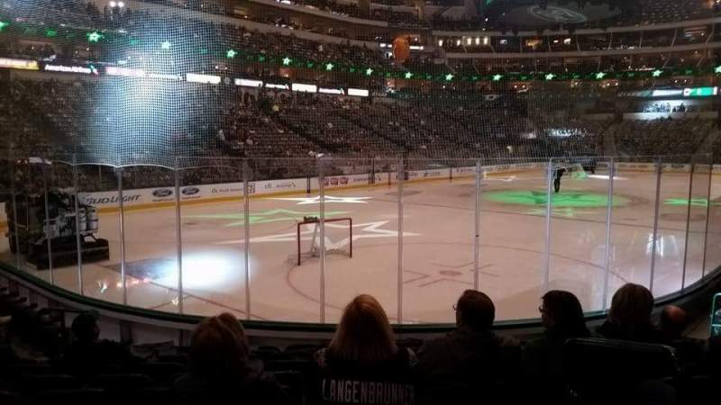 Seating view for American Airlines Center Section 123 Row L Seat 1