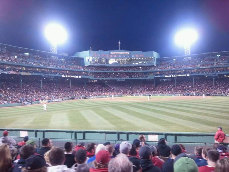 Seating view for Fenway Park Section Bleacher 40 Row 11 Seat 5