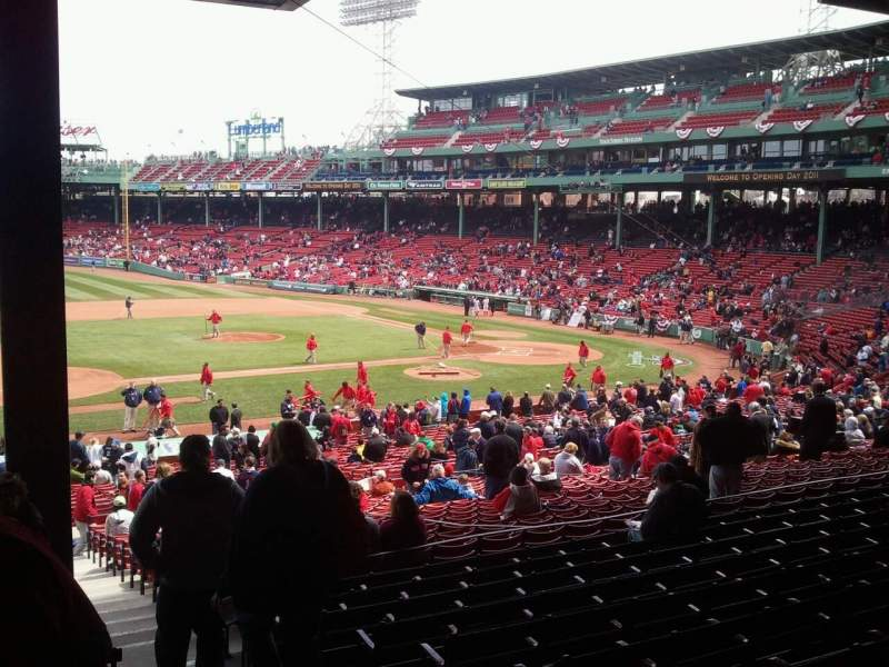Seating view for Fenway Park Section Grandstand 27 Row 10 Seat 3