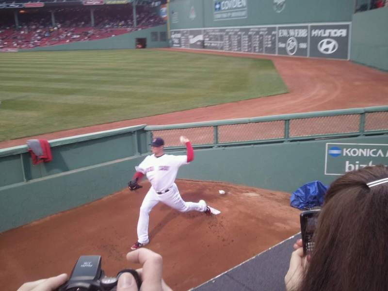 Seating view for Fenway Park Section Bleacher 40 Row 1 Seat 3