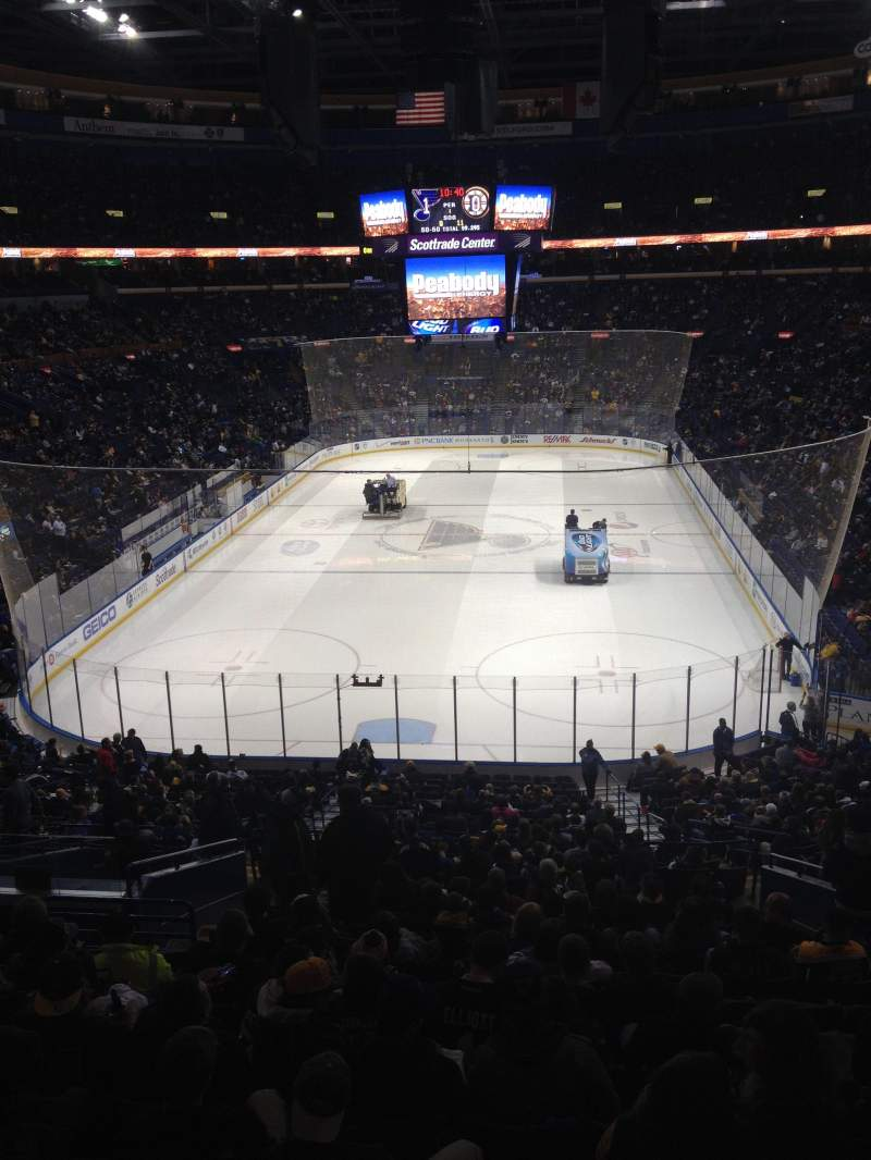 Seating view for Scottrade Center Section Loge Box 9 Row 1 Seat 1