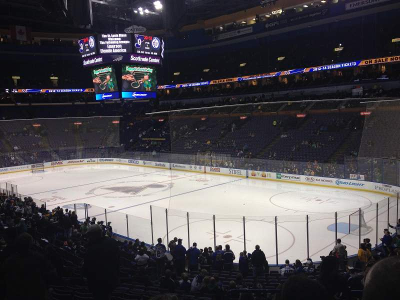 Seating view for Enterprise Center Section 126 Row AA Seat 2