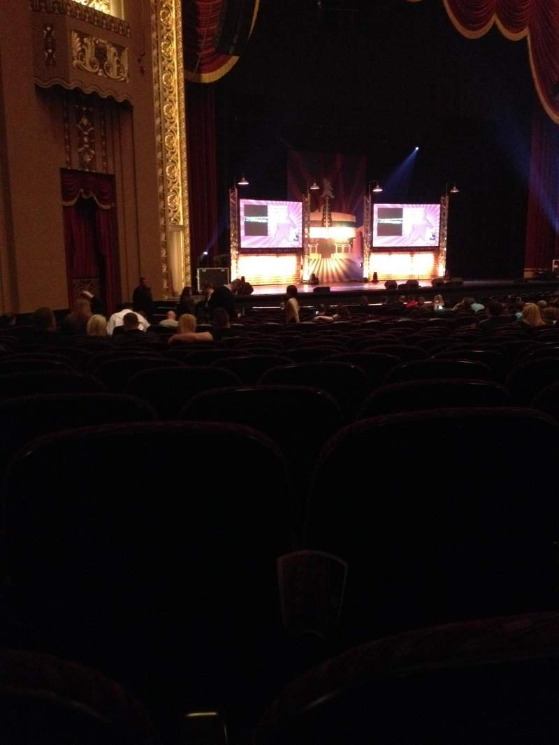 Seating view for Peabody Opera House Section Orchestra Left Row AA Seat 14