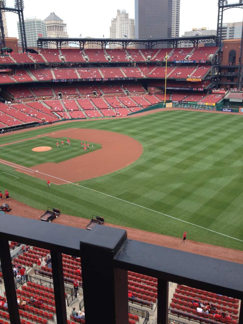 Seating view for Busch Stadium Section 335 Row 1 Seat 5