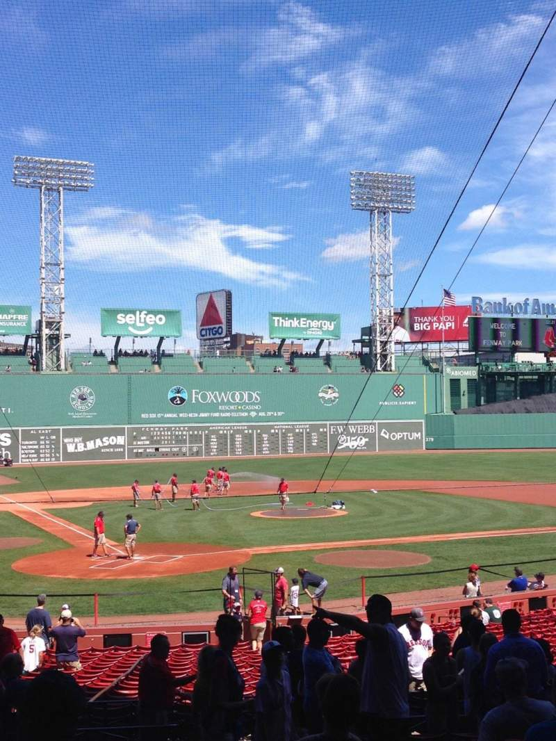 Seating view for Fenway Park Section Loge Box 125 Row Y Seat 12