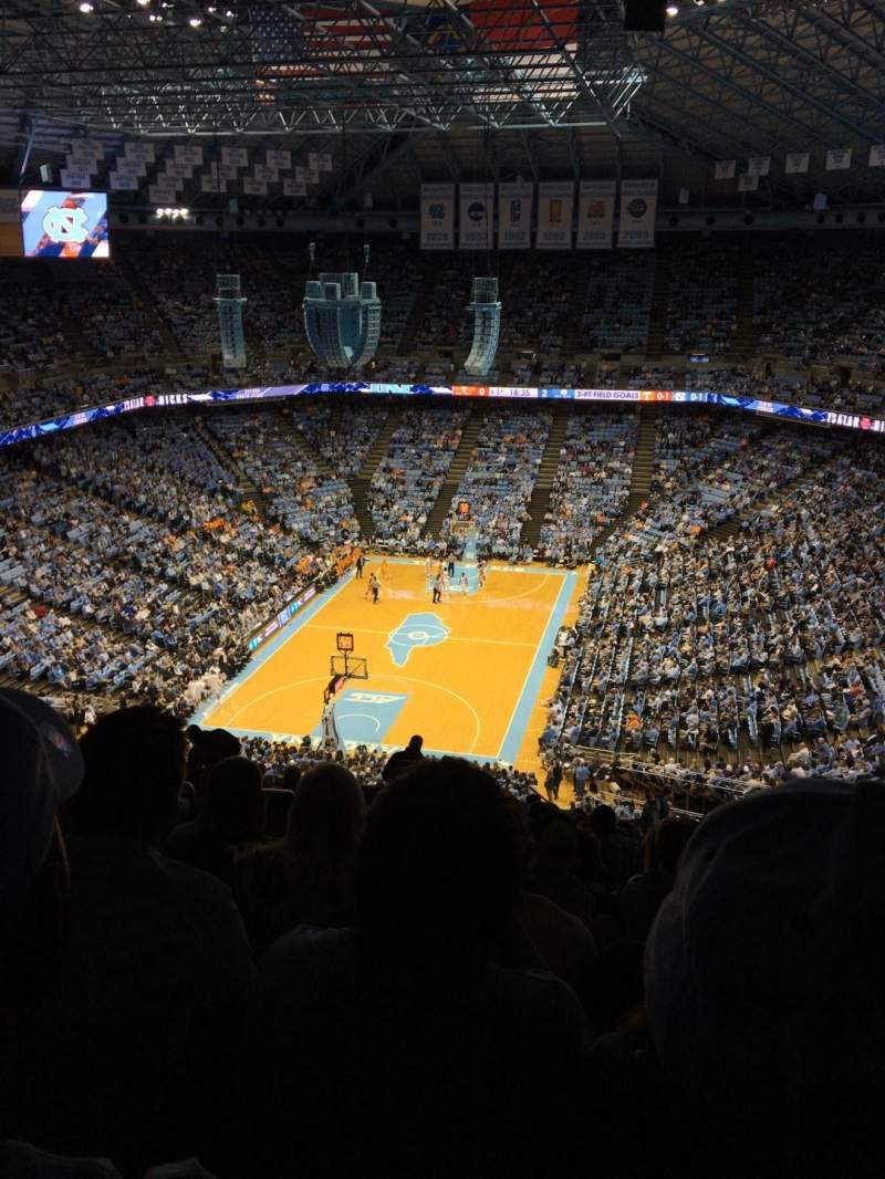 Seating view for Dean E. Smith Center Section 219 Row X Seat 9