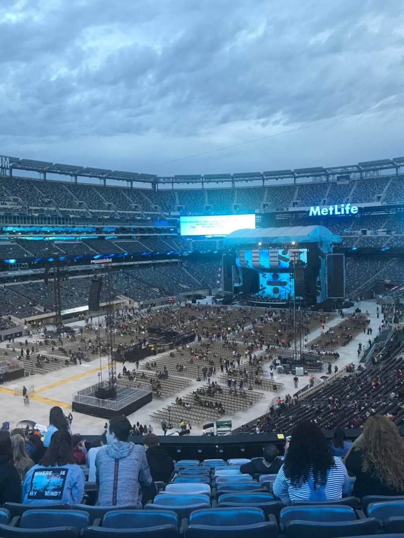 Seating view for MetLife Stadium Section 221A Row 12 Seat 9