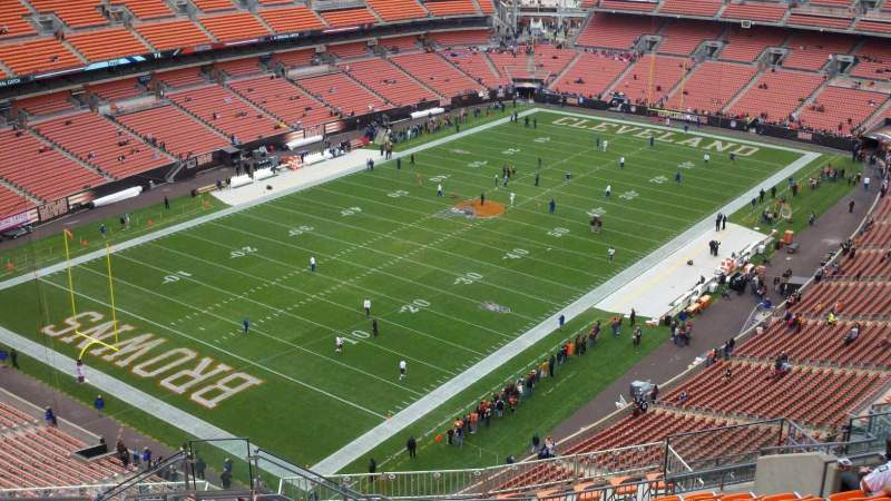 Seating view for FirstEnergy Stadium Section 526 Row 21 Seat 4