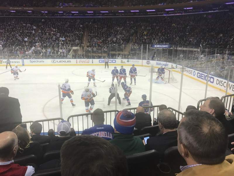 Madison Square Garden, section: 109, row: 7, seat: 5
