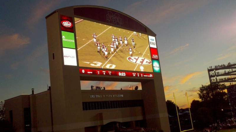 Seating view for Davis Wade Stadium Section T Row 24 Seat 13