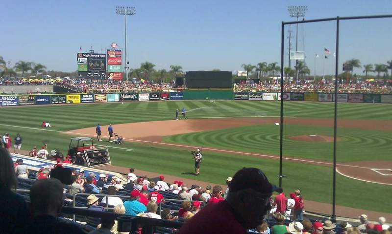 Seating view for Spectrum Field Section 114