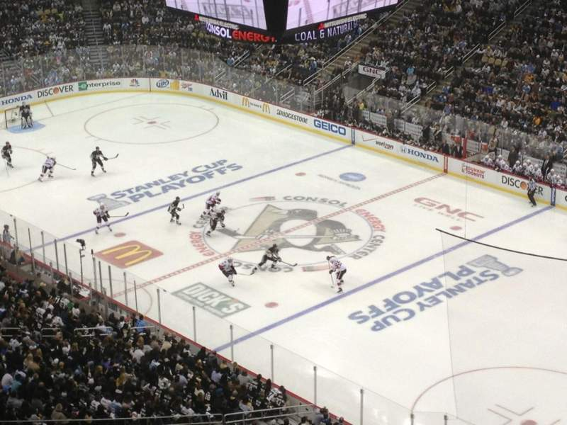 PPG Paints Arena, section: 215, row: Q, seat: 17