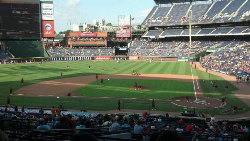 Seating view for Turner Field Section 206L Row 13 Seat 110