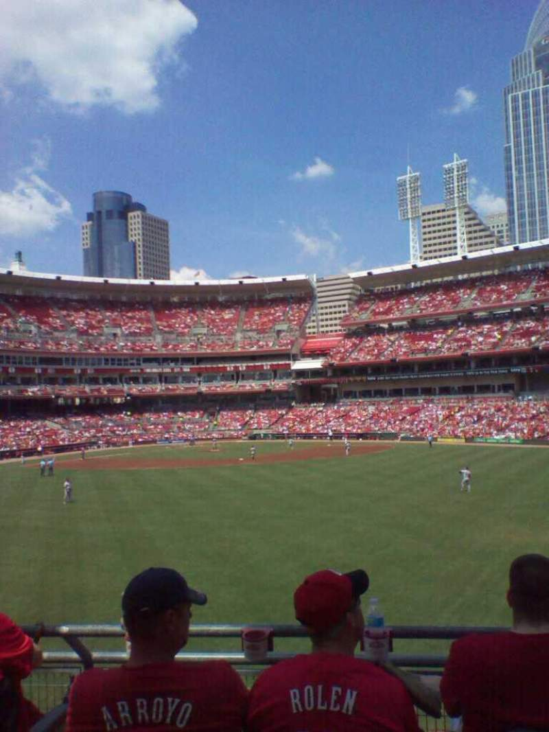 Seating view for Great American Ball Park Section 145